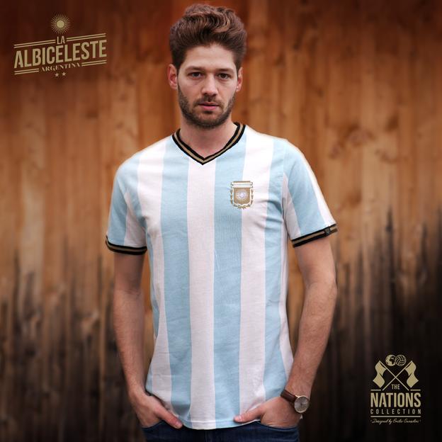 Vintage Fussball Trikot Herren Argentinien S