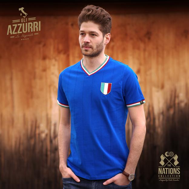 Vintage Fussball Trikot Herren Italien L