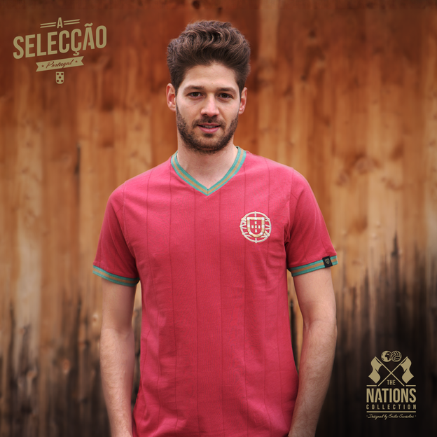 Vintage Fussball Trikot Herren Portugal L