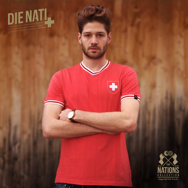 Maillot de foot rétro homme Suisse L