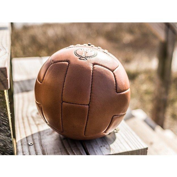 Vintage Fussball Deluxe aus Leder
