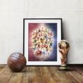 Fussball Weltmeisterschaft 2018 Poster 80x60 cm