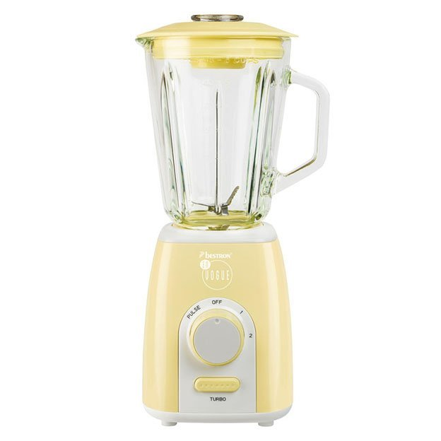Mixeur électrique rétro Bestron - vanille