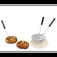 Gerucharmer Pizza Quartetto Ofen mit Terrakotta-Kuppel