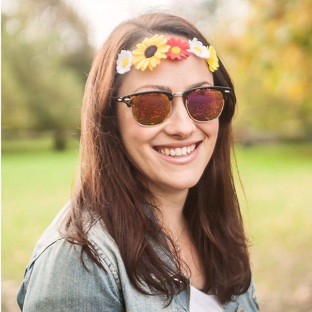 Haarkranz DIY Kit mit Kunstblumen