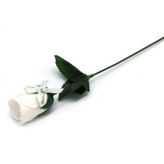 Rose de bain en savon – blanc