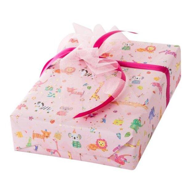 Geschenkpapier Baby pets rosa