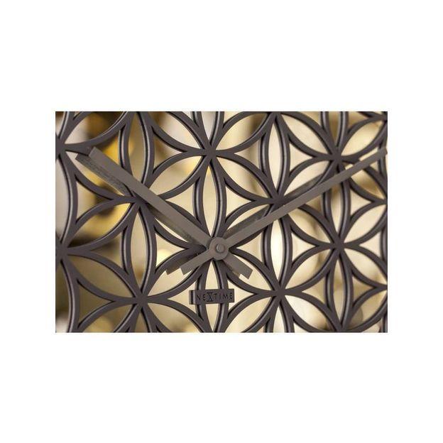 Wanduhr Blume des Lebens NexTime 50 cm