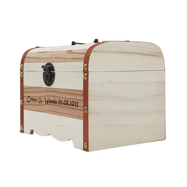 Coffre au trésor personnalisé en bois