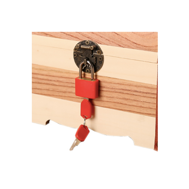 Personalisierbare Schatztruhe aus Holz