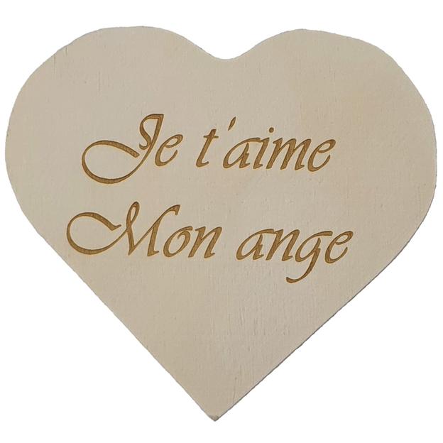 Coffret cœur en bois personnalisé