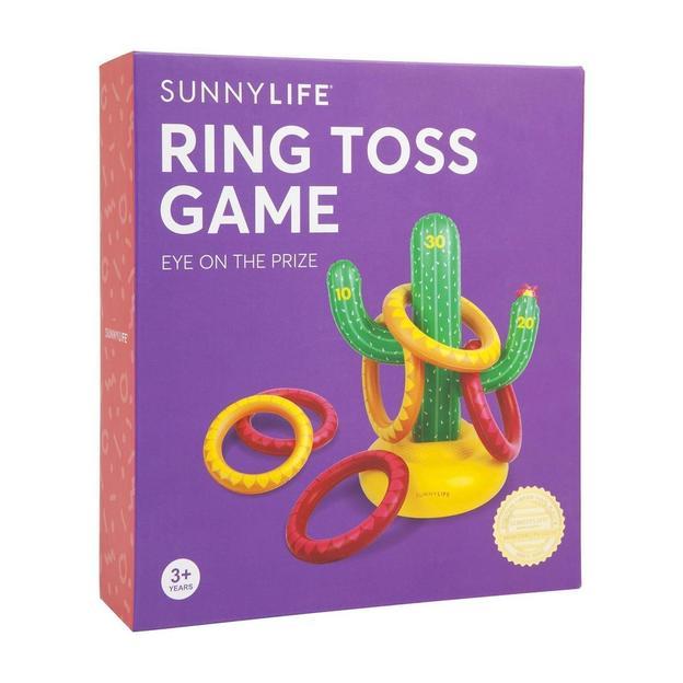 Sunnylife aufblasbares Ring-Wurf Spiel Kaktus