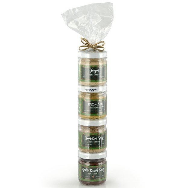 Geschenkset 4er Glückstürmli Spezialitäten Senf (4x50g)