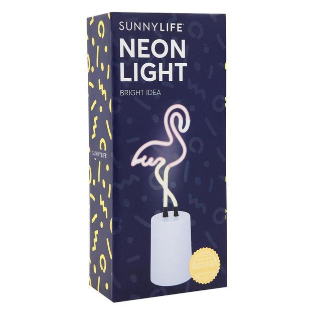 Sunnylife Lampe néon Flamant rose 23 cm