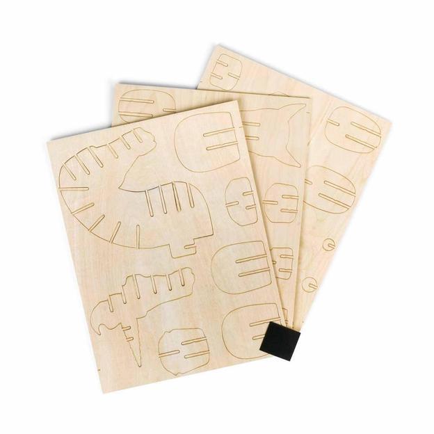 Tête de licorne en bois - kit de construction, 24 pièces
