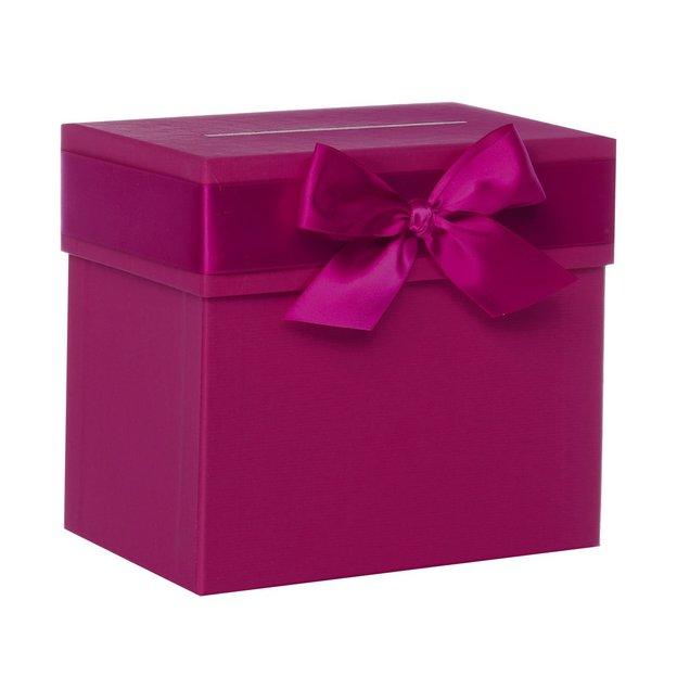 Hochzeit-Sammelbox mit Schleife