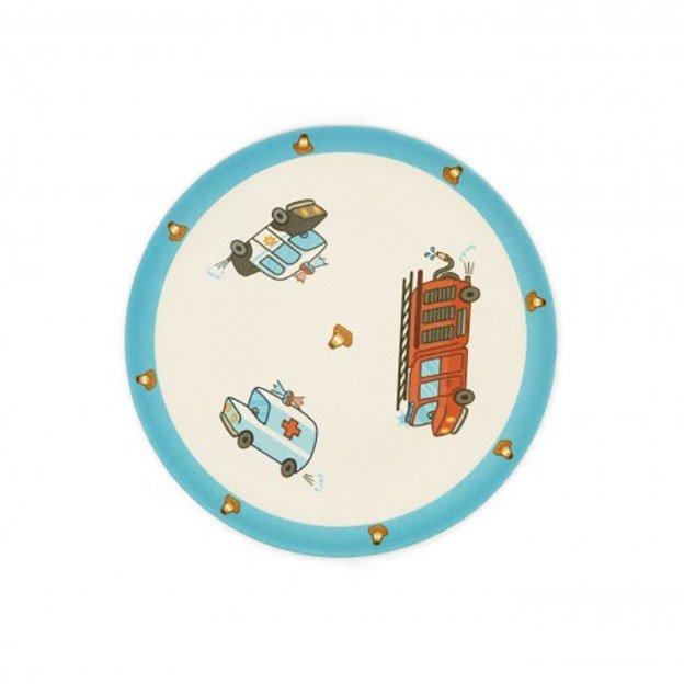 Vaisselle et couverts pour enfant Véhicules d'urgence, 6 pièces