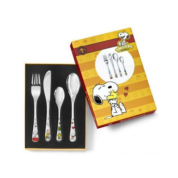 Kinderbesteck 4-teilig Snoopy, farbig