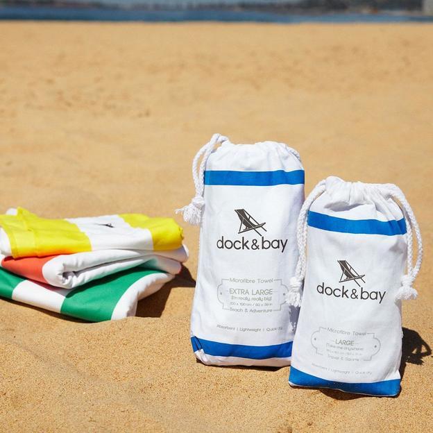 Serviette de plage Bondi Blue, séchage rapide, 200 x 90 cm