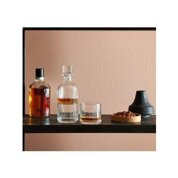 Carafe à whisky avec 2 verres