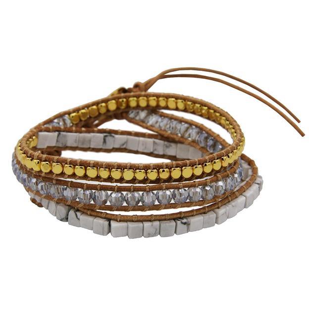 TARA STYLE Bracelet Indian Grey