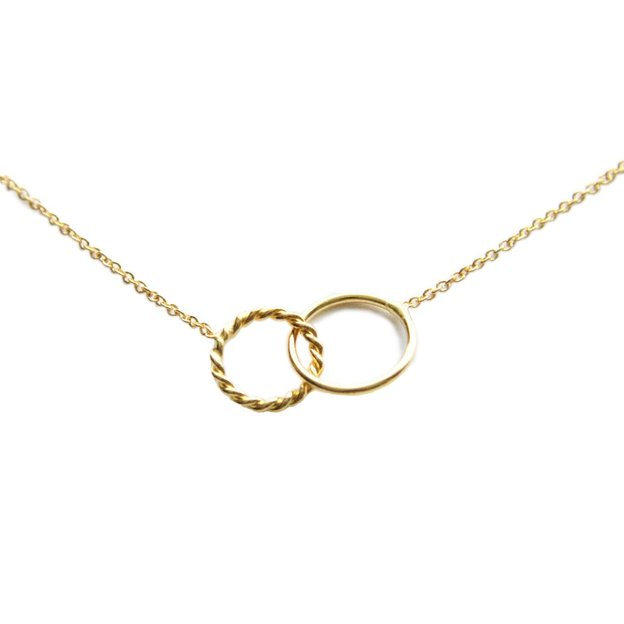 TARA STYLE Collier Two Circles Twisted