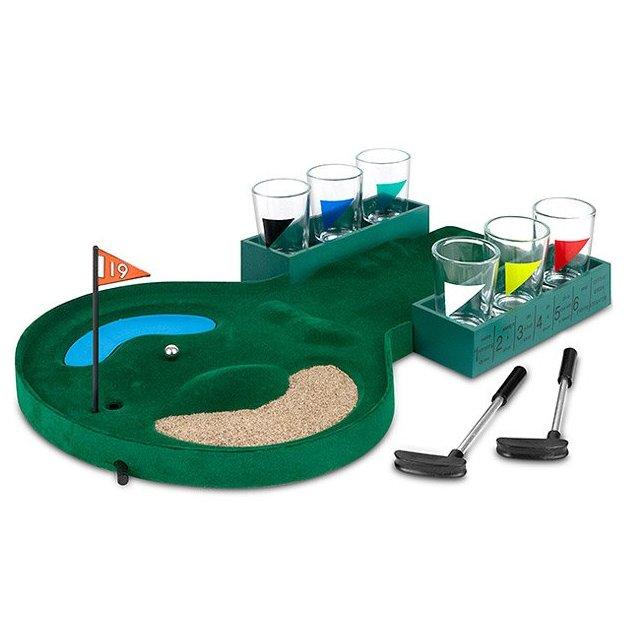 Trinkspiel Golf inkl. 6 Shotgläser