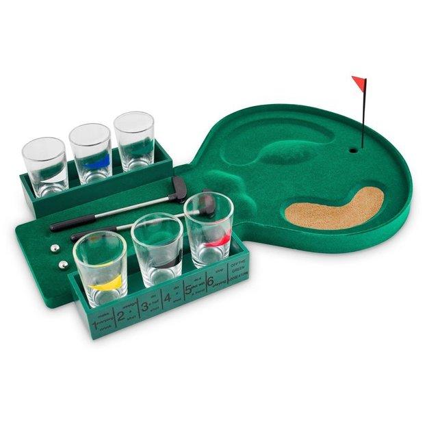 Jeu à boire mini-golf avec 6 verres à shot