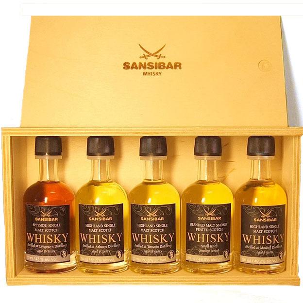 Sansibar Whisky Tasting Set dans un coffret en bois