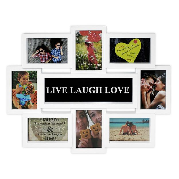 Cadres photo LIVE LAUGH LOVE, blanc