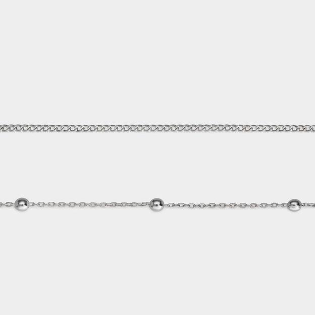 Bracelets Cluse argent, set de 2