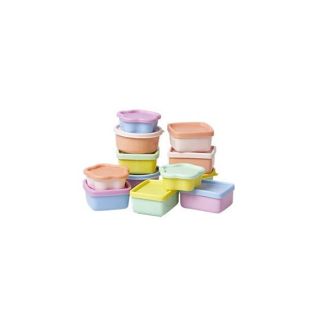 Mini-boîtes en plastique Rice, set de 12
