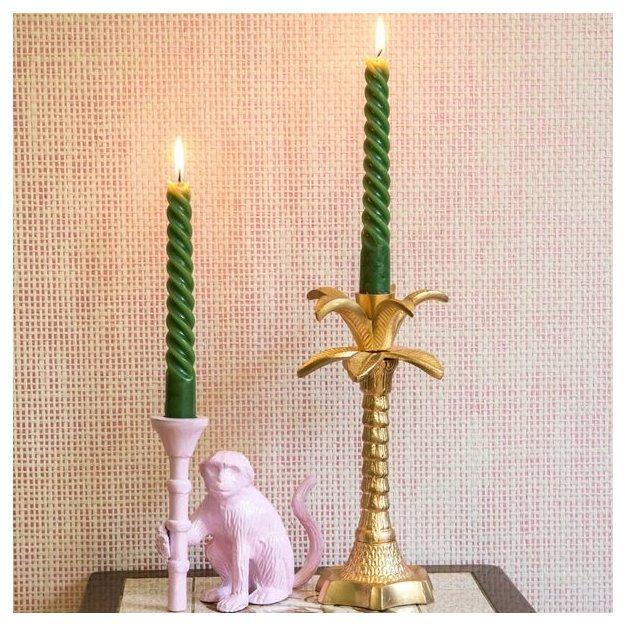 Rice Kerzenständer Affe Rosa