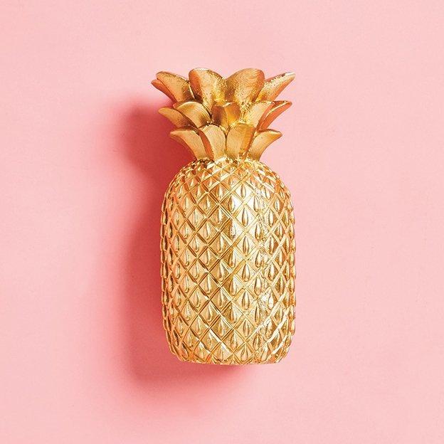 Sunnylife goldene Ananas Kerze