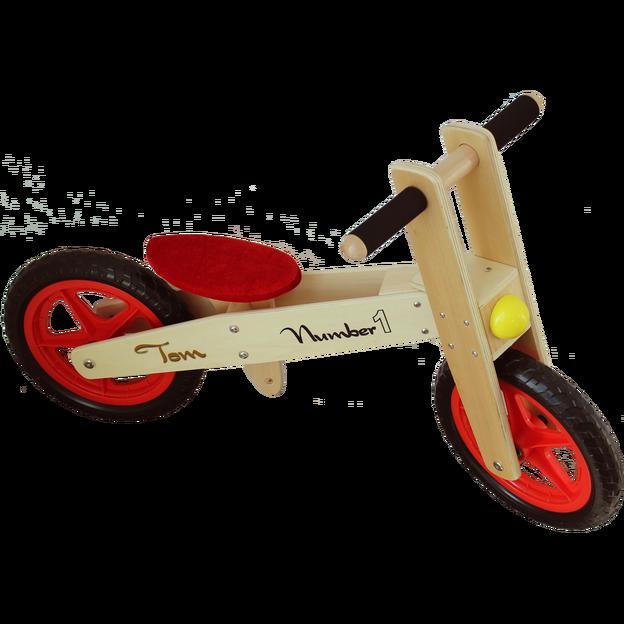 Personalisierbares Laufrad aus Holz
