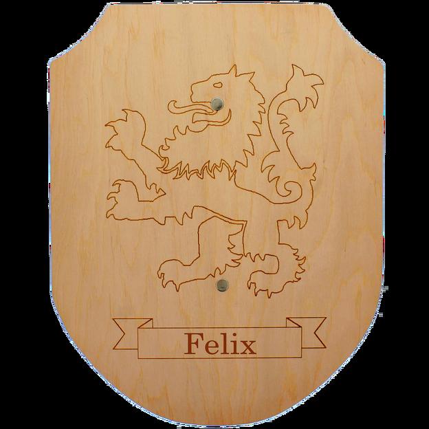 Personalisierbares Holzschwert und Schild
