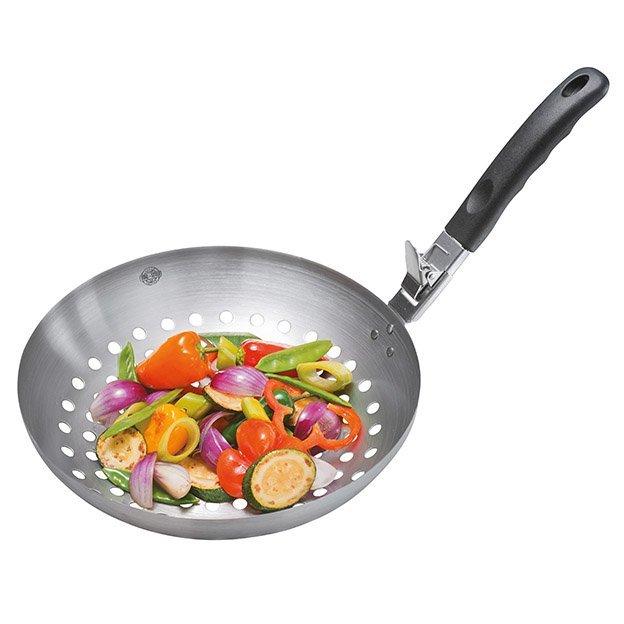 Gemüse-Wok BBQ mit abnehmbarem Griff