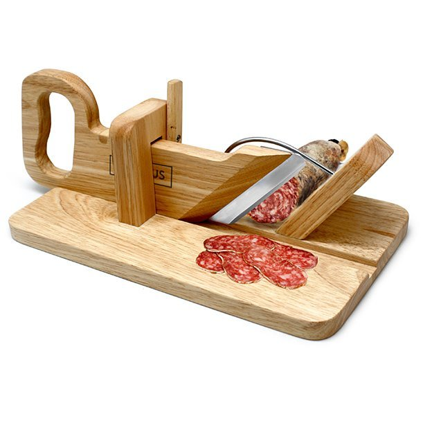 Trancheuse à saucisson en bois