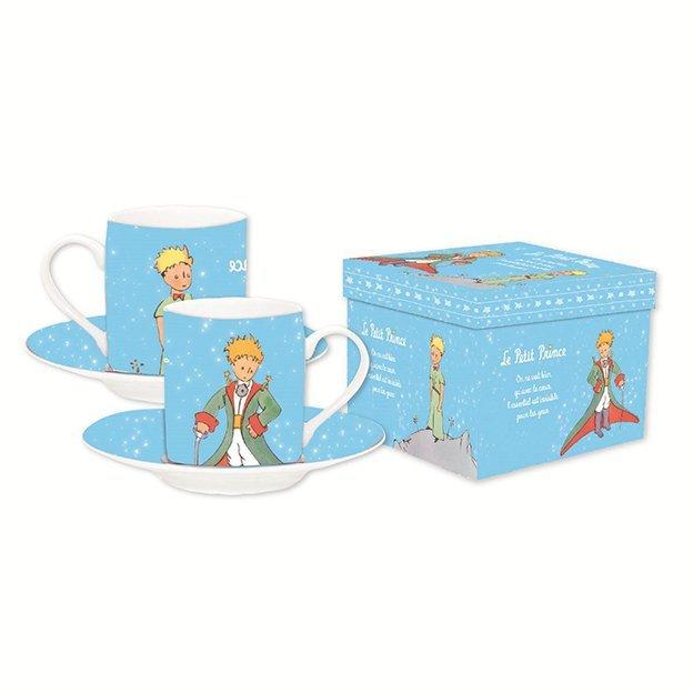 Le Petit Prince Espresso-Tassen Set hellblau