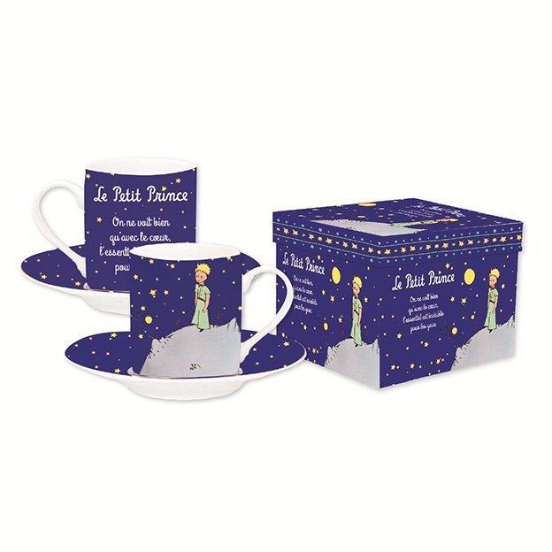 Le Petit Prince Espresso-Tassen Set navy blau