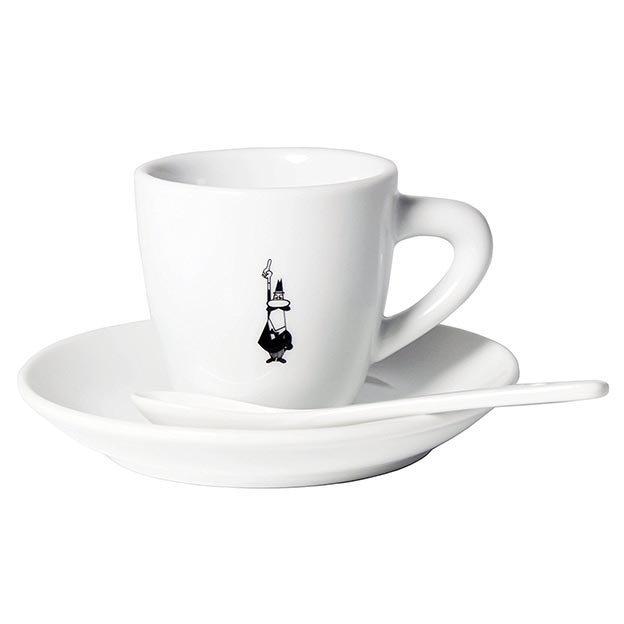 Bialetti Espresso Tasse & Untersetzer mit Löffel