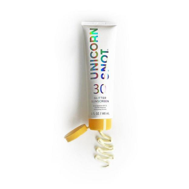 Crème solaire pailletée Unicorn Snot 30, or