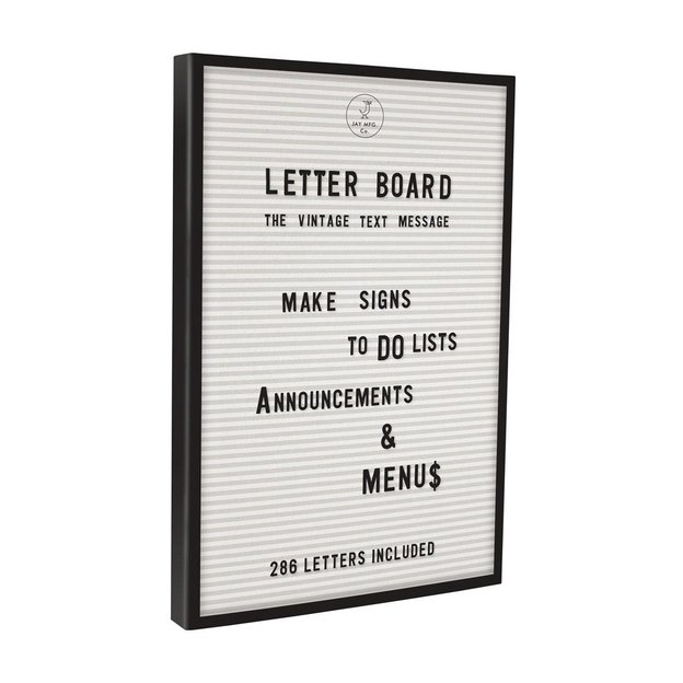 Letterboard mit Buchstaben
