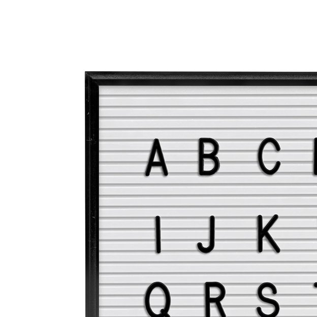 Letterboard mit Buchstaben & Zahlen weiss