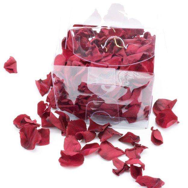 Rose à vie en pétales - rouge foncé