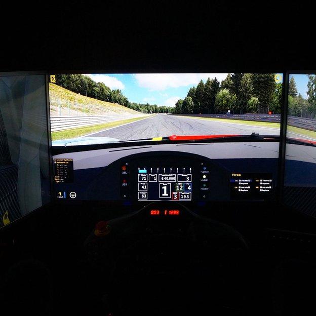 Automobil Rennsport Simulator BASIC + PRO (60 Minuten) für 2 Personen