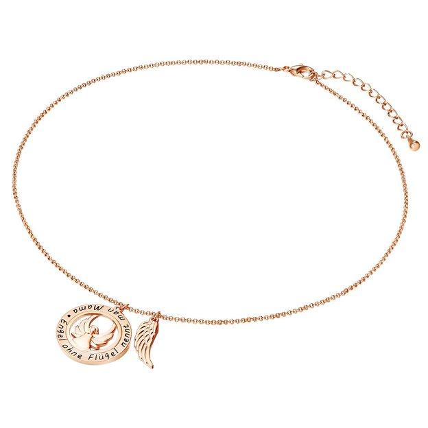 Rosevergoldete Halskette Engel