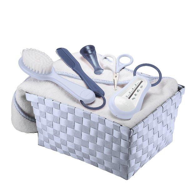 Geschenkkorb Baby Körperpflege blau