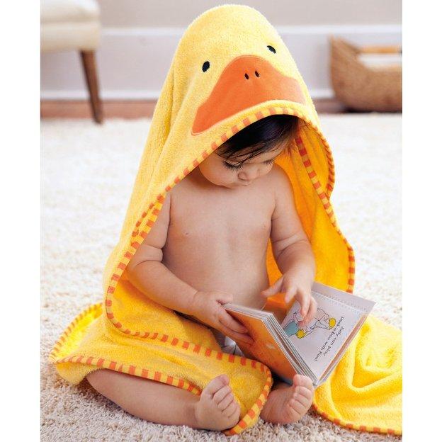 Linge pour bébé avec capuche Canard