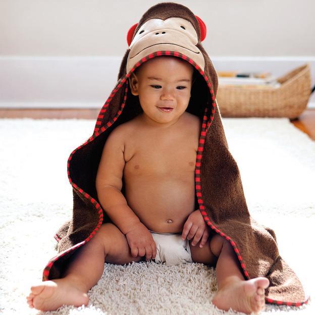 Linge pour bébé avec capuche Singe